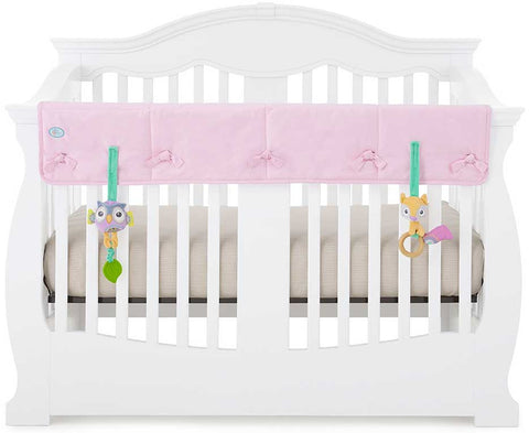 Eco-Teether Wide Organic Crib Rail Cover - Pink (Front/Back)