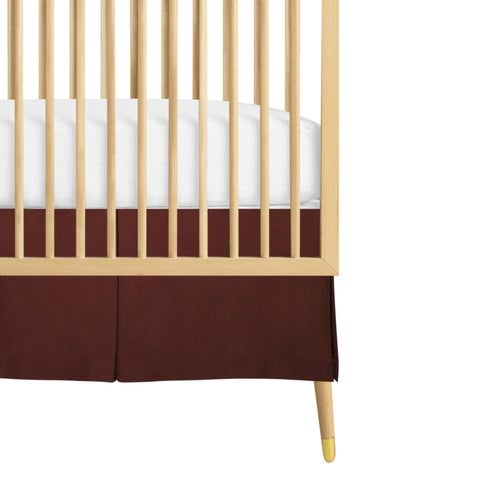 organic crib skirt brown