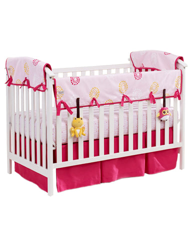organic nursery bedding set pink