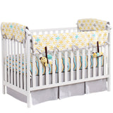 organic nursery bedding, fitted crib sheet, crib rail guard