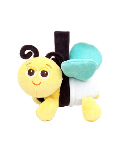 organic plush bee baby travel toy