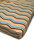 organic chevron crib fitted sheet