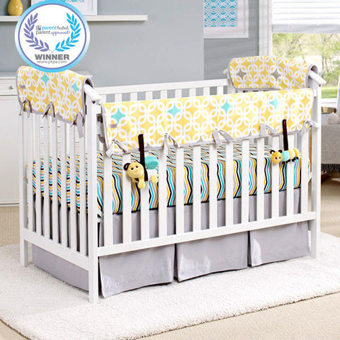 ecoteether organic crib rail cover front