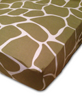 organic giraffe crib fitted sheet