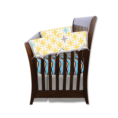 yellow crib side rail guard