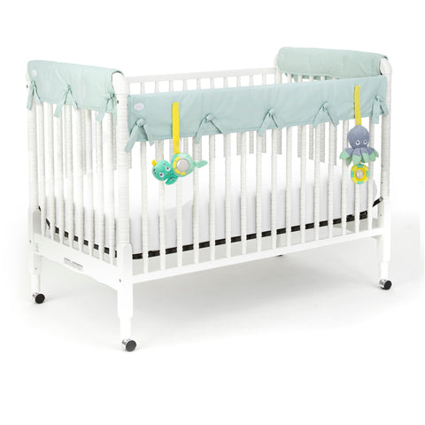 Eco-Teether Crib Rail Cover 5 Piece Set - Aqua 53'x12'
