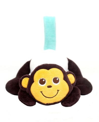organic plush baby travel toy, monkey stroller toy