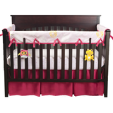 Blossoms & Dots Pink Organic Crib Rail Cover