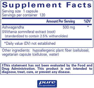 Ashwagandha 500 mg 120 CT - Medical Grade Nutrients