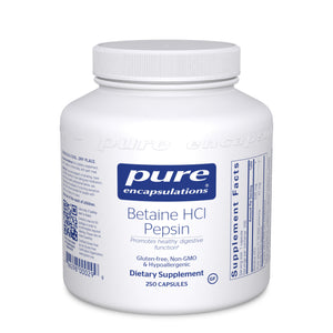 Betaine HCl Pepsin 250 CT - Medical Grade Nutrients