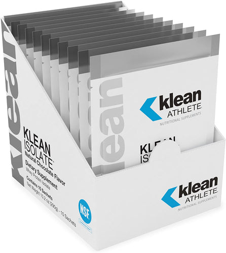 Klean Isolate Natural Chocolate Flavor Single Serving Sachets - Medical Grade Nutrients
