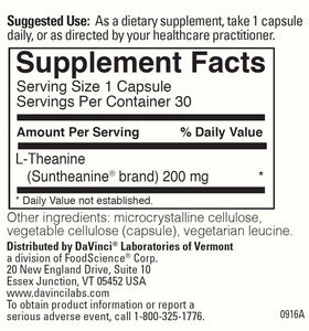 L-THEANINE 200 mg (120) CT - Medical Grade Nutrients
