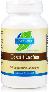 Priority One Coral Calcium 1500 mg 90 vegcaps - Medical Grade Nutrients