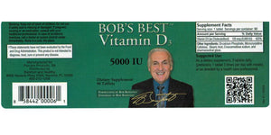 Bob's Best Vitamin D3 5,000 - Medical Grade Nutrients