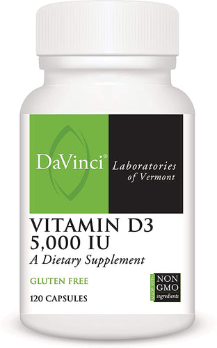VITAMIN D3 5000IU (120) CT - Medical Grade Nutrients