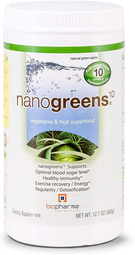 Biopharma Scientific NanoGreens Green Apple Powder - Medical Grade Nutrients