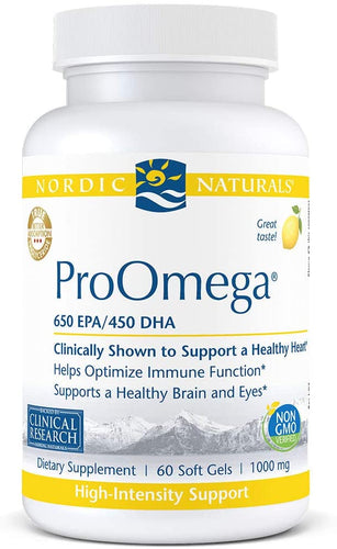Nordic Naturals ProOmega 650 EPA 450 DHA - Medical Grade Nutrients