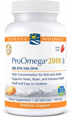 Nordic Naturals ProOmega 2000 Jr. 60 Gels - Medical Grade Nutrients