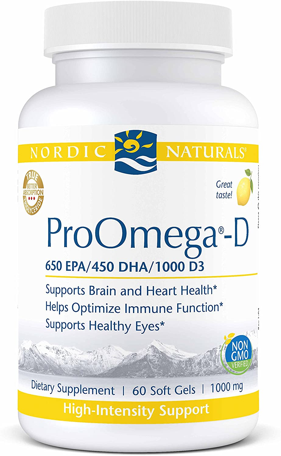 Nordic Naturals ProOmega-D Lemon 1000 - Medical Grade Nutrients