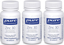 Load image into Gallery viewer, Zinc 30 60 CT - 3 Pack - Medical Grade Nutrients