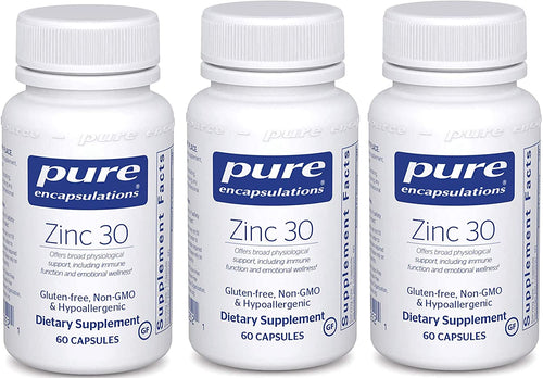 Zinc 30 60 CT - 3 Pack - Medical Grade Nutrients