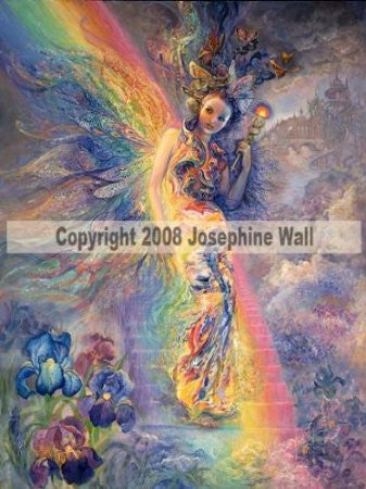 Iris, Keeper of the Rainbow by Josephine Wall - 8x10 inch ceramic tile