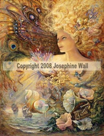 Crystal of Enchantment by Josephine Wall - 8x10 inch ceramic tile