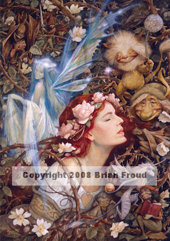 Briar Rose by Brian Froud - 8x10 inch ceramic tile