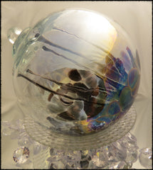 Black Ice Medusa Spirit Ball Iridized 6""