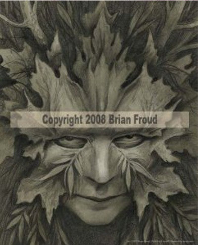 The Green Woman by Brian Froud - 8x10 inch ceramic tile