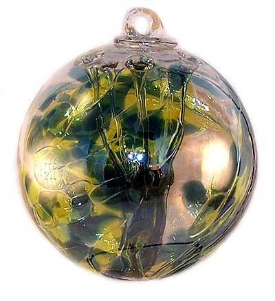 "Jade Witch Ball - Iridized (6"")"