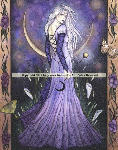 Maiden Moon by Jessica Galbreth  -  8x10 inch ceramic tile