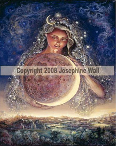 Moon Goddess by Josephine Wall - 8x10 inch ceramic tile