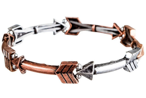 Multi Metal Arrows Bracelet