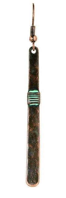 Patina Long Bar Earrings