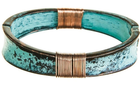 Patina Wire Wrap Bracelet