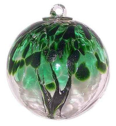 Juniper Spirit Tree Glass Ball 6""