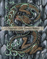 Eastern Land Dragon by Theresa Mather -  8x10 inch ceramic tile