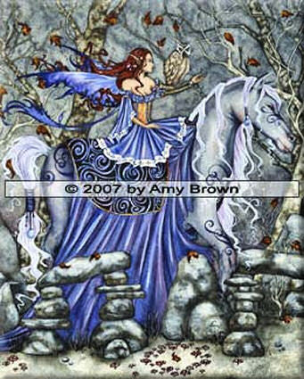 Rhiannon by Amy Brown -  8x10 inch ceramic tile