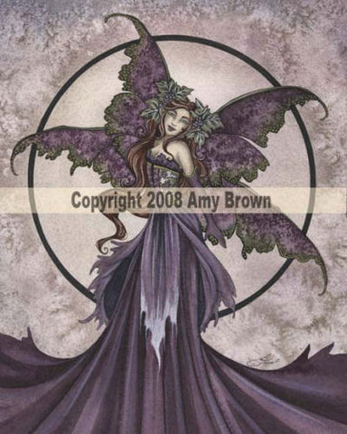 Enchanted Wine by Amy Brown -  8x10 inch ceramic tile