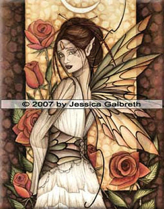 Gypsy Rose by Jessica Galbreth - 8x10 inch ceramic tile