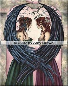 Sisters by Amy Brown -  8x10 inch ceramic tile
