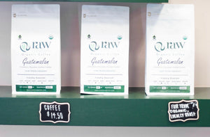 Organic, locally roasted ground coffee