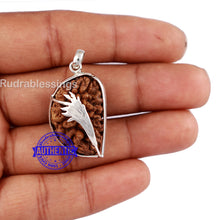 Load image into Gallery viewer, 1 Mukhi Rudraksha in Pure Silver Dhaan Pendant - Bead No. 30