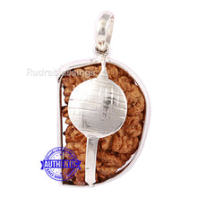 Load image into Gallery viewer, 1 Mukhi Rudraksha in Pure Silver Gada Pendant - Bead No. 40