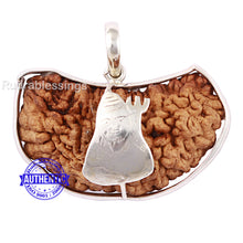 Load image into Gallery viewer, 1 Mukhi Rudraksha in Pure Silver Shiva Pendant - Bead No. 45