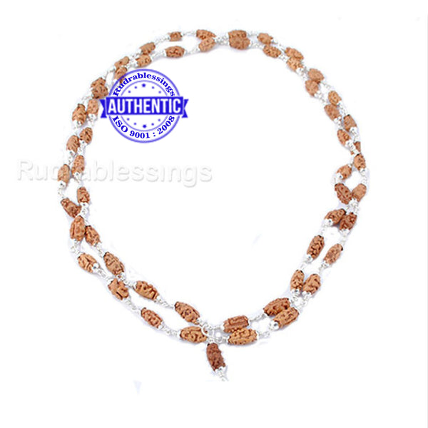 1 Mukhi Indonesian Mala (54+1 beads) - Pure Silver