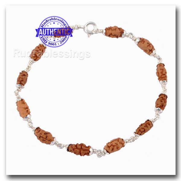 1 Mukhi Indonesian Bracelet (12 beads) - Pure Silver