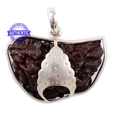 Load image into Gallery viewer, 1 Mukhi Rudraksha in Pure Silver Mukut Pendant - Bead No. 57