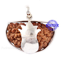 Load image into Gallery viewer, 1 Mukhi Rudraksha in Pure Silver Kalash Pendant - Bead No. 59